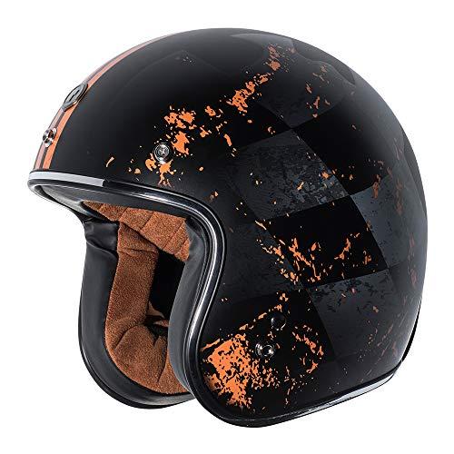 - TORC T50 Route 66 Finale Open Face Helmet (Flat Black, Medium)