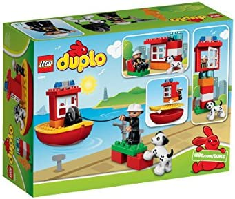 New In Sealed Box LEGO DUPLO Town 10591 Fire Boat Retired Free Shipping!