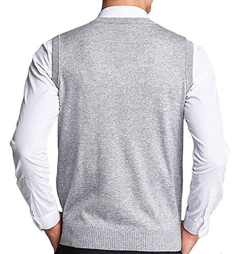Manches Gilet Printemps De Mode Slim Graff Laine Casual Vêtements Sans Col Hommes Robe Tricoté Débardeur Automne En Fit V dq6EOwd