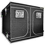 Matrix Horticulture 96''x96''x80'' Grow Tent Diamond Mylar 600D Hydroponic Growing Room Box for Indoor Plants Observation Window Arch Door D Design 8x8