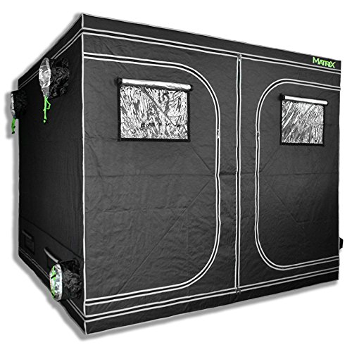 $299.88 best indoor grow tent MATRIX Horticulture 96″x96″x80″ Grow Tent Diamond Mylar 600D Hydroponic Growing Room Box Indoor Plants Observation Window Arch Door D Design 8×8 2019