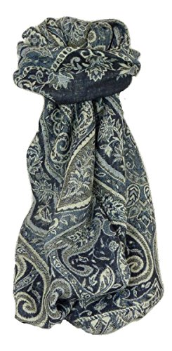 Muffler Scarf 8353 in Fine Pashmina Wool from the Heritage Range by Pashmina & Silk by Pashmina & Silk (Image #5)