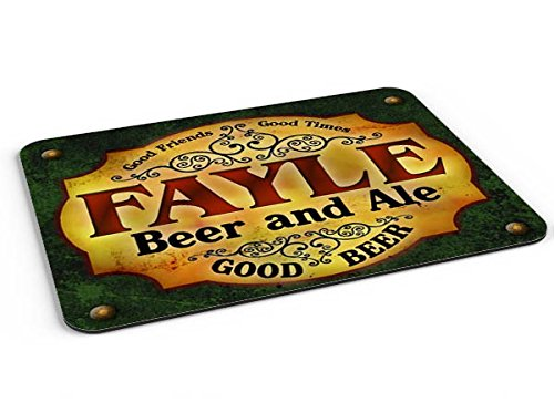 Fayle Beer & Ale Mousepad/Desk Valet/Coffee Station Mat from ZuWEE