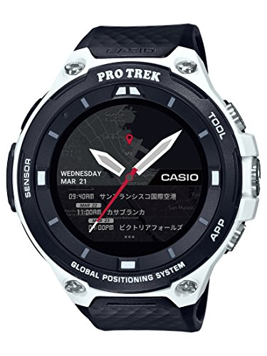 Casio Men's 'PRO TREK' Quartz Resin Outdoor Smartwatch, Color Black (Model: WSD-F20-WECAU)