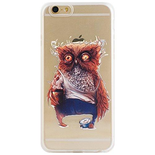 Voguecase® für Apple iPhone 6 Plus/6S Plus 5.5 (5,5 zoll) hülle, Schutzhülle / Case / Cover / Hülle / TPU Gel Skin (Waldkauz) + Gratis Universal Eingabestift