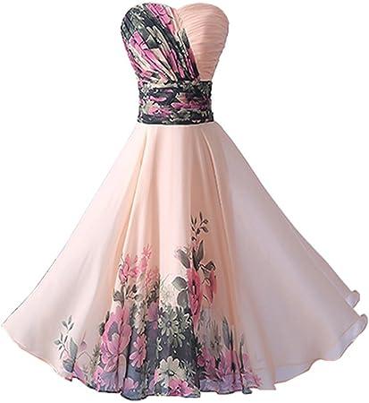 Abiti Eleganti Su Amazon.Yipgrace Donna Elegante Senza Spalline Vestiti Da Sera Corti Pink