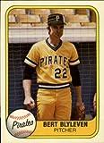1981 Fleer Baseball Card #383 Bert Blyleven Near Mint/Mint