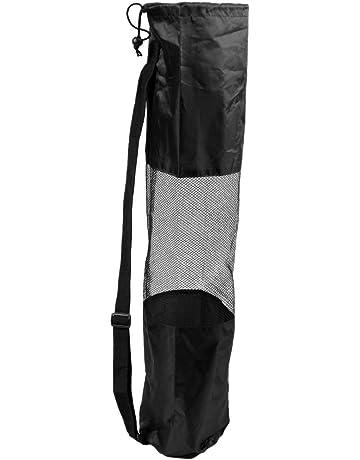 ae4831b18f TOOGOO(R) Sacca custodia borsa per tappetino di Yoga Pilato nera portatile  centrale in