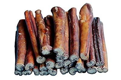 "6"" BULLY STICKS - Free Range Standard Regular Thick Select 6 inch, by Downtown Pet Supply"