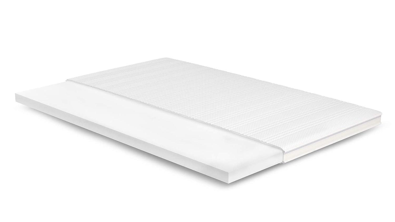 AS Meister 7cm Kaltschaum Topper 155x180 cm - Basic Bezug mit 3D-Mesh-Klimaband & Stegkante - 5cm HR Kaltschaum RG 45 - Matratzenauflage 155x180 für Ihr Bett