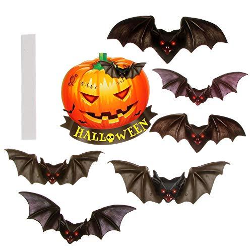 Set of Paper Single Side Large Black Bats