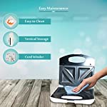 INALSA Easy Toast Sandwich Maker-750W with Non-Stick Coated Plate and Bigger body|Deep Filling, Triangle Sandwich,(White…