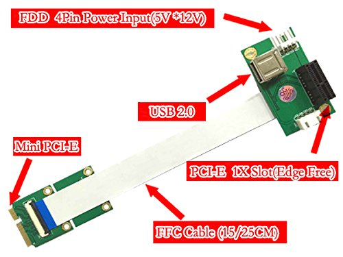 Mini Pcie To Pci-e Express X1+usb Riser Card With High Speed
