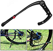 Xrten Aluminum Alloy Adjustable Mountain Bicycle Kickstand, Non-Slip Road Cycling Kick Stand Support for MTB