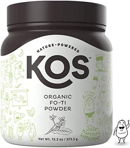 KOS Organic Fo-Ti Powder | Immunity Strengthening Fo-Ti Root (He Shou Wu) Powder | USDA Organic, Supports Healthy Hair, Skin & Nails, Increases Endurance, Plant Based Ingredient, 373.5 g, 83 Servings