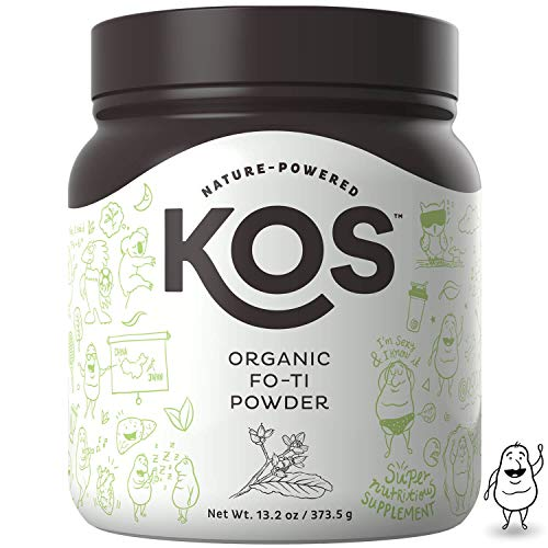 (KOS Organic Fo-Ti Powder | Immunity Strengthening Fo-Ti Root (He Shou Wu) Powder | USDA Organic, Supports Healthy Hair, Skin & Nails, Increases Endurance, Plant Based Ingredient, 373.5 g, 83 Servings)