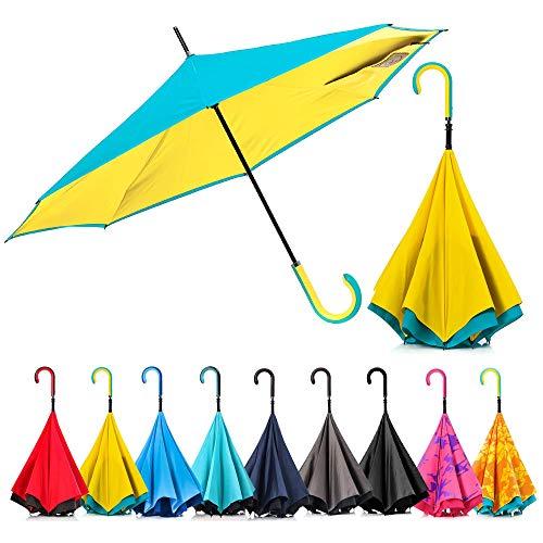 46432e5c7d6c Carry Inverted Umbrella,Convenient Reverse Folding Easy Into Car And ...