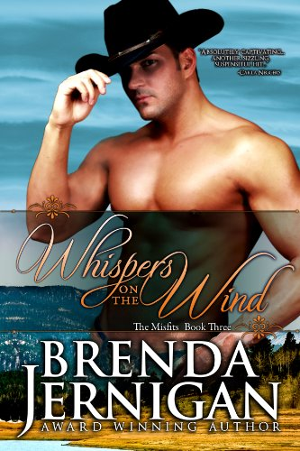 Whispers on the Wind:  Western Historical Romance (Misfit series Book 3) cover