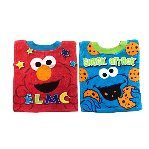 - Sesame Street Elmo Baby Bibs- 2 Piece Pack (blue_cookie monster)