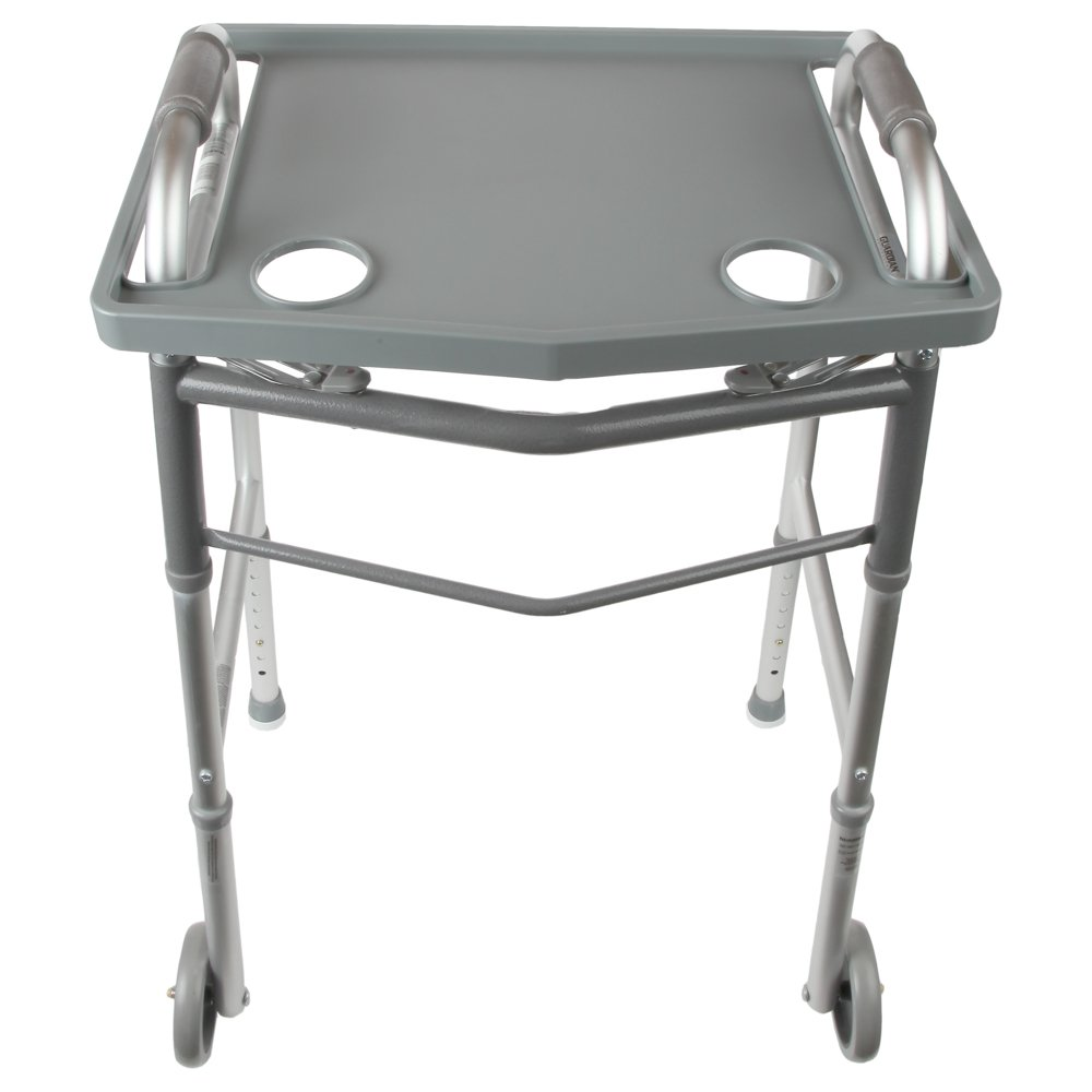 Home-X Walker Tray with Cup Holders | Fits Most Standard Walkers (Check Dimensions Before Ordering)