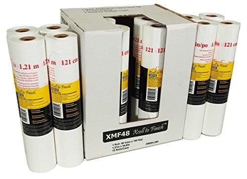 Reli. Pre-Folded Masking Film, 12 Rolls Wholesale Case (180 foot length x 48 inch width) Width Folded