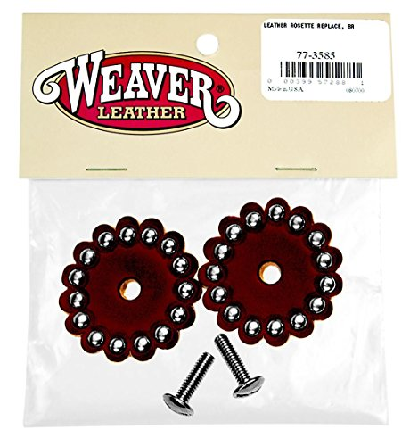Weaver Leather LEATHER ROSETTE REPLACE, BR ()