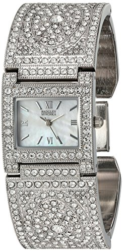 badgley-mischka-womens-ba-1365mpsv-swarovski-crystal-accented-silver-tone-bangle-watch