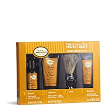 The 4 Elements of The Perfect Shave Mid-Size Kit - Lemon by The Art of Shaving for Men - 4 Pc Kit 0.5oz Pre-Shave Oil, 1.0oz Shaving Cream, 0.5oz After Shave Balm, Pure Badger Black Shaving Brush