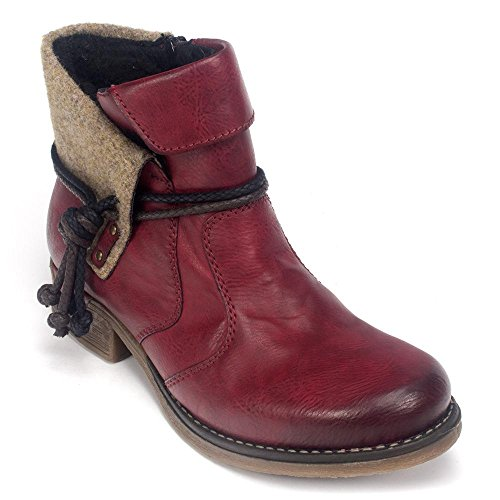 Rieker Fee 93 Womens Boot Red