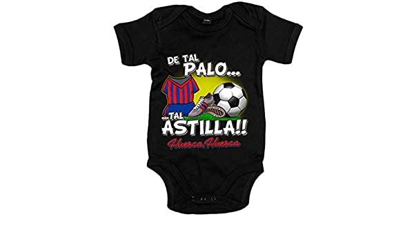 Body bebé de tal palo tal astilla Huesca fútbol - Negro, 12-18 meses ...