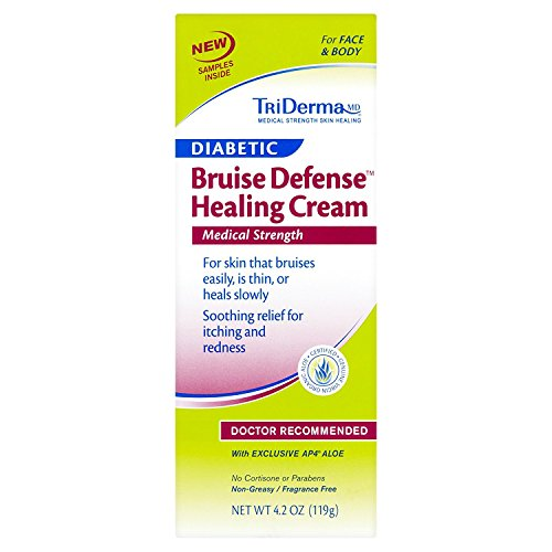 TriDerma MD Diabetic Bruise Defense Healing Cream - 2.2 oz, Pack of 2 (Defense Healing Cream)