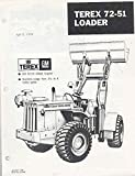1970 Terex 72-51 GMC 4-71N Diesel Loader Brochure