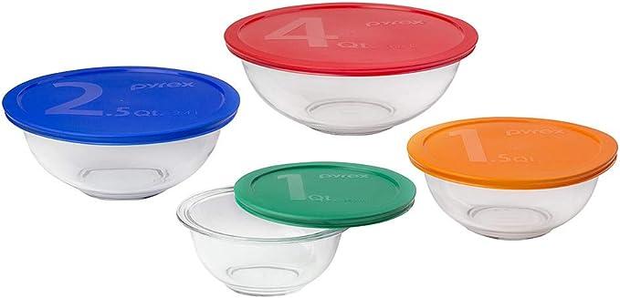 3-Piece Pyrex Glass Mixing Bowl Set