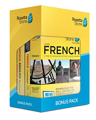 Software : Learn French: Rosetta Stone Bonus Pack (24 Month Subscription + Lifetime Download + Book Set)