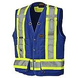Pioneer V1010180-L Hi-Viz Surveyor's Safety Vest, Royal, L