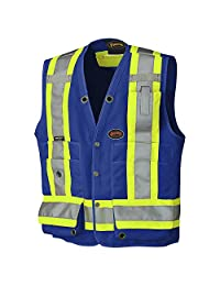 Pioneer V1010180-M Hi-Viz Surveyor's Safety Vest, Royal, M