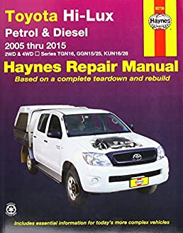 toyota hilux 4x4 automotive repair manual 2005 2015 amazon co uk rh amazon co uk