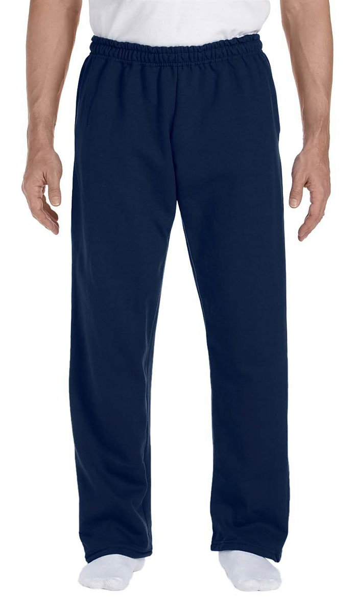Gildan Open Bottom Pocketed Sweatpants (12300) Available in 6 Colors Medium Navy