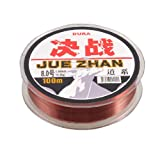 8.0# 0.50mm Dia 18.4Kg Fishing Line Spool 100M 328Ft Clear Red String