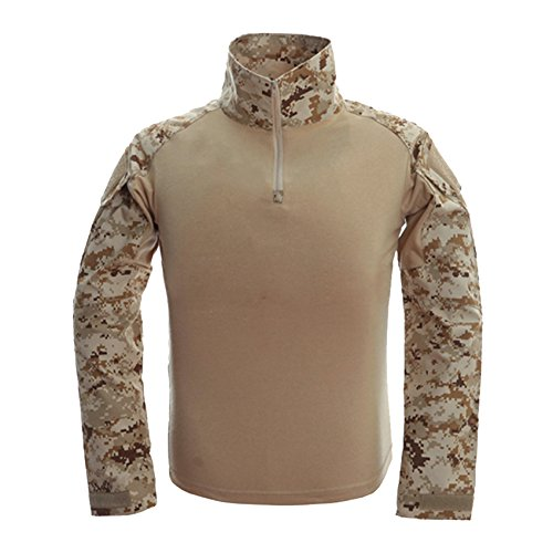 MAGCOMSEN Tactical Uniform Shirts for Men Training Athletic T-Shirt Fitness Assault Tee Top Desert