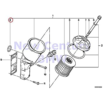 Amazon Com Bmw Genuine Lubrication System Oil Filter O Ring 24x3