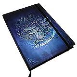 "Brigid Ashwood Zodiac Celtic Dragonfly Plain Blank Paper Journal With Bookmark Strip 6"" by 8"" Notebook"