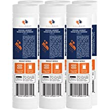 """Aquaboon 6-PACK Of 5 Micron Grooved Sediment Water Filter 10"""" x 2.5"""" for any RO unit by"""