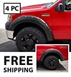 2005 ford f150 fender flares - Premium Fender Flares for 2004-2008 Ford F-150 Styleside Models; 2006-2008 Lincoln Mark LT | Smooth Matte Black Paintable Pocket Bolt-Riveted Style 4pc