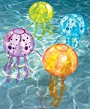 Set of 4 Banzai Inflatable Jellyfish Bubble Light Set