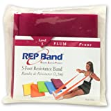 REP Band Magister Resistive Exercise Latex-Free 5 FOOT PRE-CUT LENGTHS PLUM (LEVEL 5) For Sale