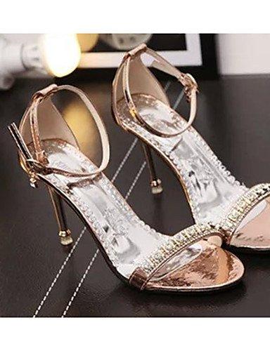 GGX/ Damenschuhe-High Heels-Lässig-PU-Stöckelabsatz-Absätze-Rosa / Silber / Gold golden-us6.5-7 / eu37 / uk4.5-5 / cn37