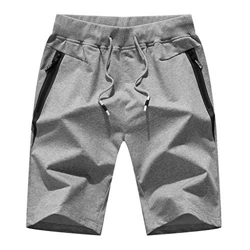 De En Tricoté Gris Pour Coton Sport Shorts Hommes Pantalons Décontractés Longues Plage 5xwfggYq