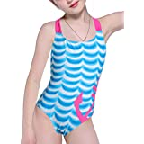 LEINASEN Race Back One Piece Swimsuit for Girls, Size 6-14