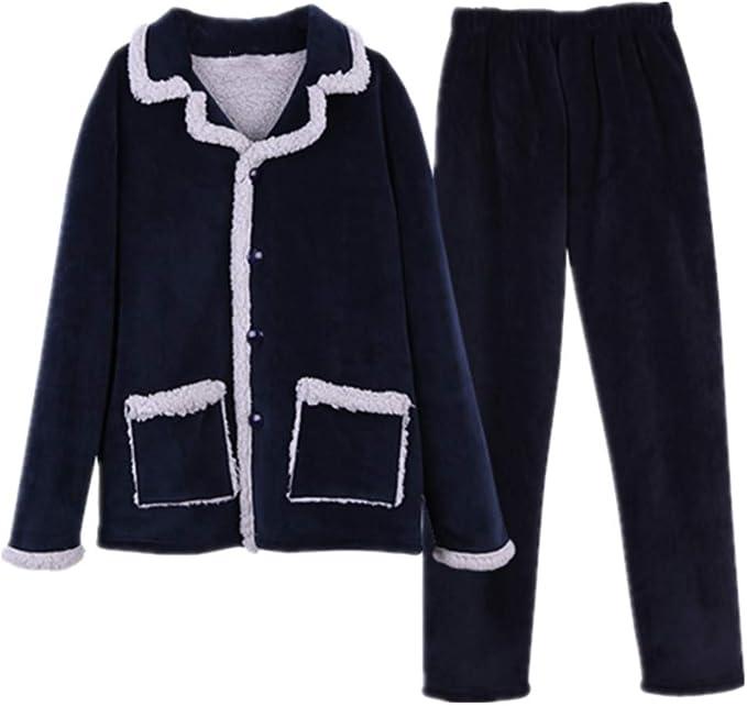 N\P Invierno Engrosado Pijamas Traje De Franela Pijamas De ...